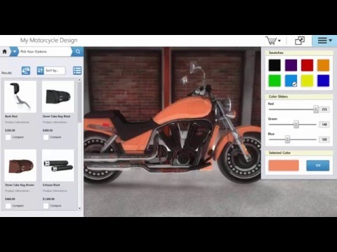 Interactive Motorcycle 3D Designer and Configurator