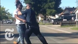 Video Shows Sacramento Police Officer Beating Pedestrian   The New York Times