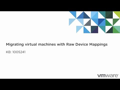 Migrating virtual machines with Raw Device Mappings