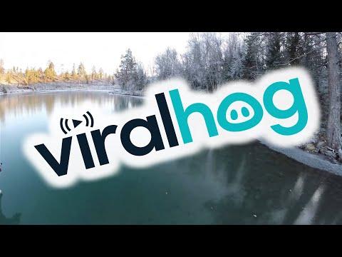 Skating on Crystal Clear Ice || ViralHog