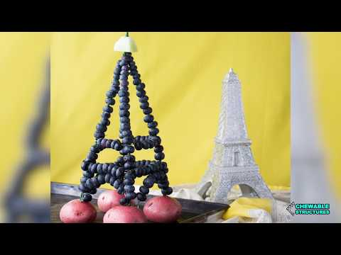 How To Make Eiffel Tower Using Blueberries