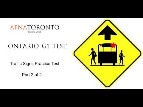Ontario G1 Test - Traffic Signs Practice Questions - 2 of 2