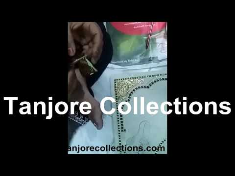 DIY Foil Sticking | How to stick Gold foil in tanjore paintings