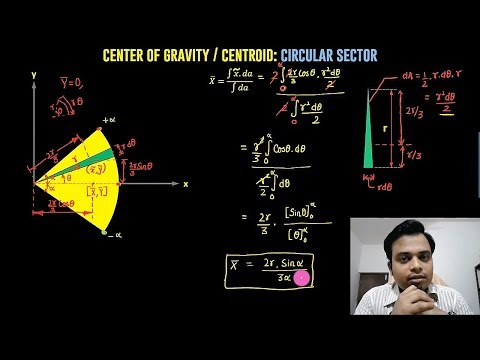 How to find Centroid of a Circular Sector by Integration