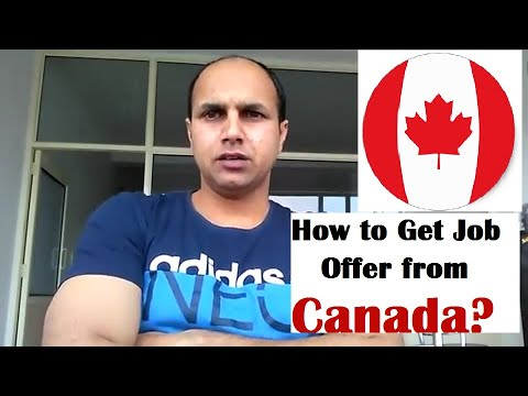 How to get job offer from Canada (apply yourself on cic.gov.ca)