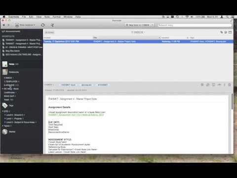 GTD Student Workflow in EverNote
