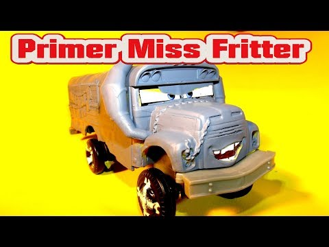 Pixar Cars Primer Miss Fritter Custom Paint Car with Bonus Primer Frank