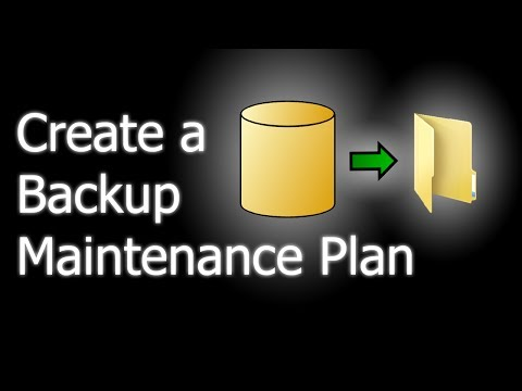 How to create a backup Maintenance Plan in SQL Server
