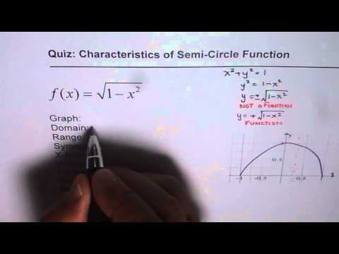 Semi Circle Function Equation and Characteristics