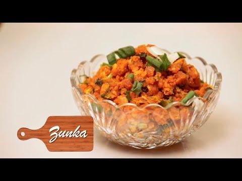 Spicy Zunka(झुणका) Recipe | Homemade Maharashtrian Recipe By Roopa | Best Coastal Food