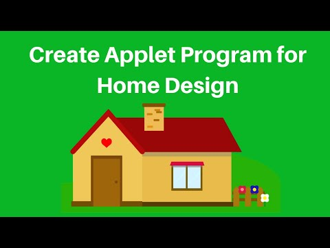 How to create simple Home Design program in java Applet