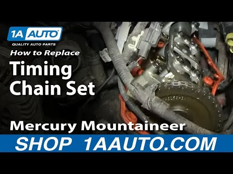 Part 1 How To Install Replace Timing Chain Tensioner and guides 4.6L Ford V8