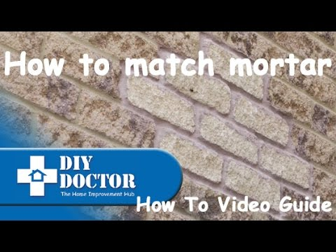 Matching mortar for brickwork and blockwork joints