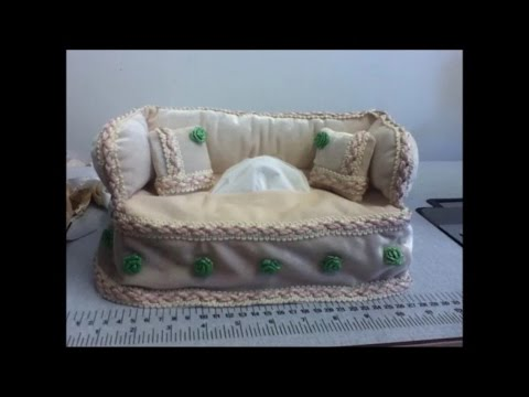 How To Make A Sofa Style Tissue Box Cover By Rose