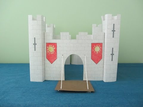 3D Paper Castle Project for Kids