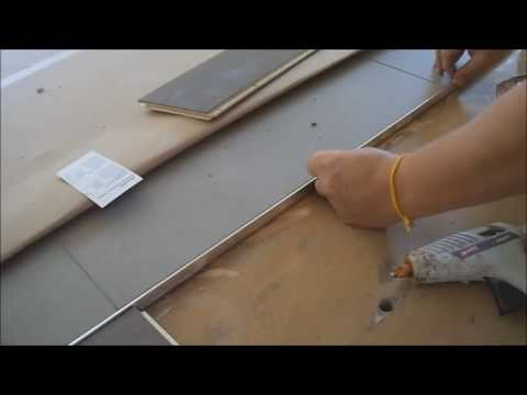 How to Install Metal Transition Strip between Hardwood Flooring and Tile Mryoucandoityourself