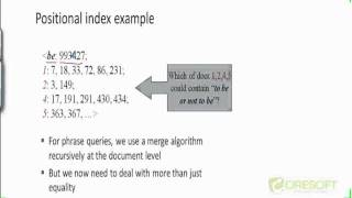 WDM 22: Phrase Query Using Positional Index