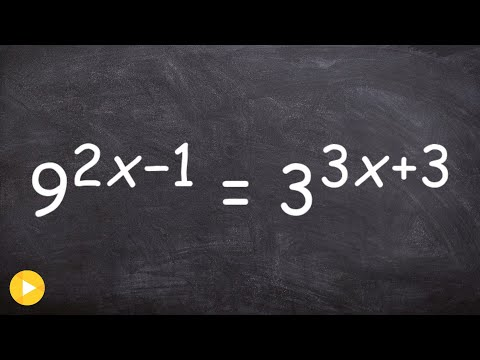 How to solve an exponential equation with two different bases