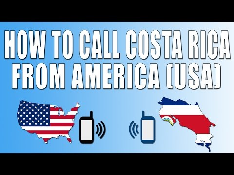 How To Call Costa Rica From America (USA)
