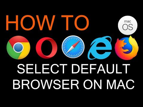 How to Select Default Web Browser on Mac Os