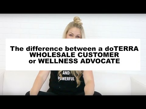 What is the difference in a doTERRA wholesale account and a Wellness Advocate account?