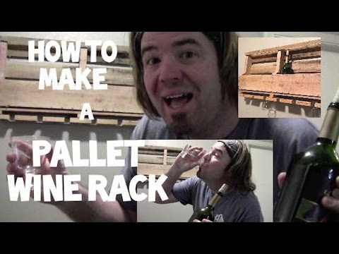 how to make a sweet pallet wine rack. FREE!  and  Easy! Home Mender