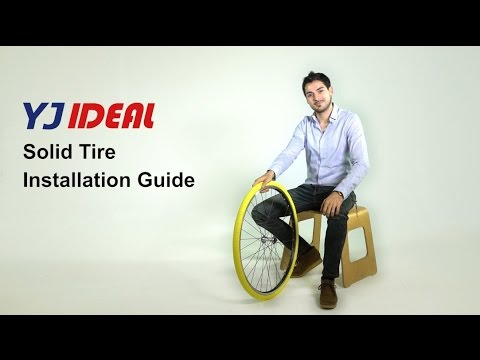 YJ Ideal Solid Tires  Bicycle Bike Tyres Installation Guide YJIDEAL