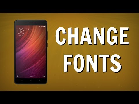 How To Change FONTS on MIUI 8 Redmi NOTE 4 Without ROOT