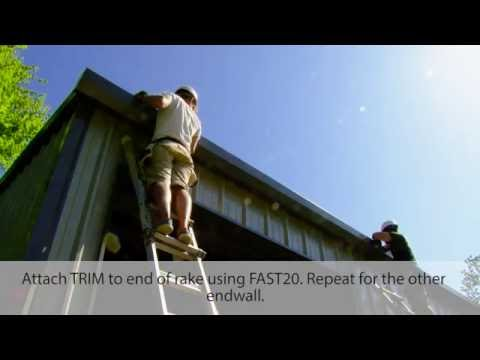 Step 41 - Install Corner and Rake Trim