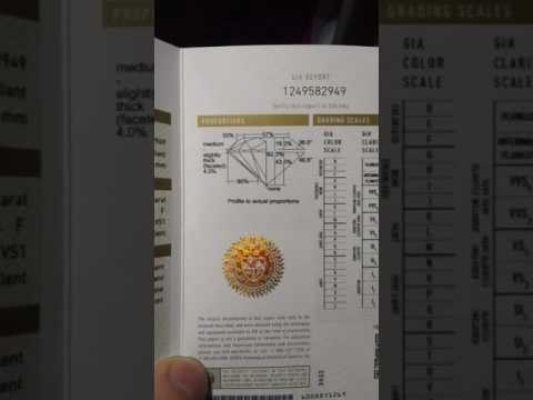 Examining a diamond certificate