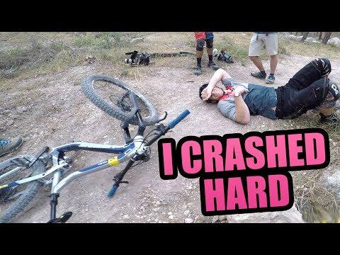 I CRASHED HARD ON THIS MTB TRAIL *HOSPITAL*
