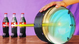 COCA COLA VS GIANT MAGNIFYING GLASS!! 9 EXPERIMENTS