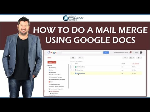 How to do a Mail Merge Using Google Docs