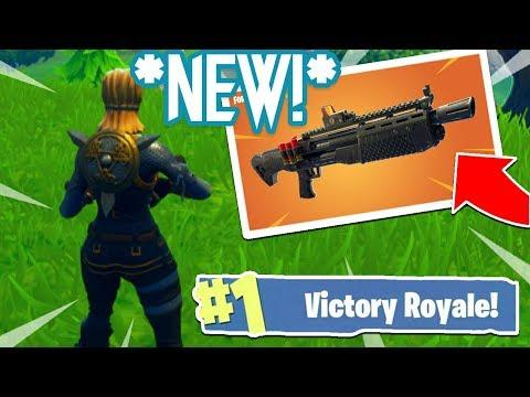 *NEW* HEAVY SHOTGUN VICTORY ROYALE GAMEPLAY IN FORTNITE!