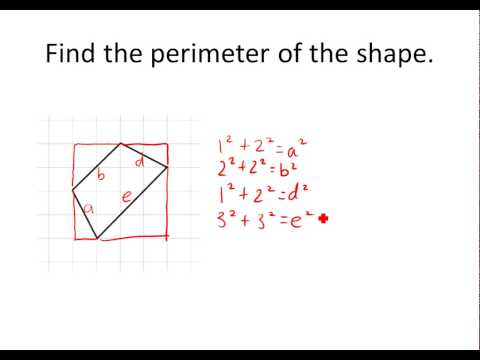 Finding Perimeter of Shapes on A Coordinate Plane