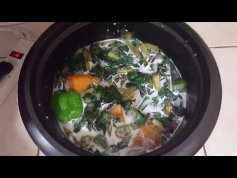 How to make Callaloo in Black & Decker Rice Cooker