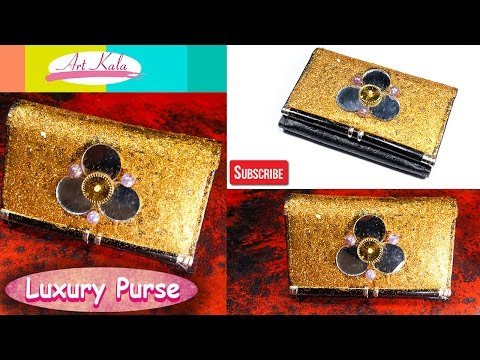 How to make a luxury Hand Bag / Purse  Home | DIY | Old purse | Artkala