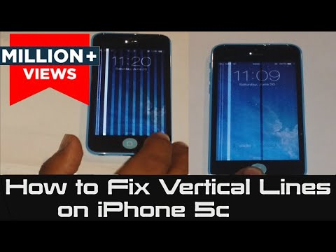How to Fix Vertical Lines on iPhone 5c | Unresponsive Screen 5c | White & Black Lines