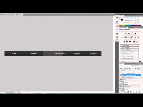 Dreamweaver CS5 and Photoshop CS5 Tutorial: How to Make a Navigation Bar!