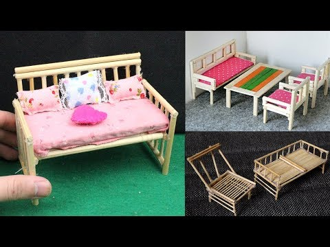 5 Easy & Quick Miniature Furniture | Chair & Table - DIY & Crafts #6
