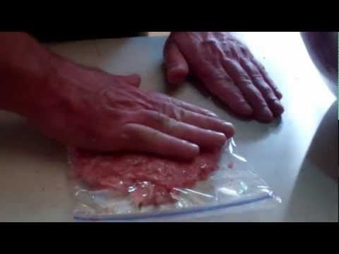 Super Easy Way To Patty and Freeze Bulk Burger and Sausage! And Cheap!!!!!!