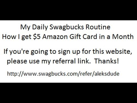 My Daily Swagbucks Routine.  How I get $5 Amazon Gift Card in a Month.