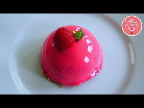 Raspberry & White Chocolate Cheesecake Recipe | Mirror Glaze