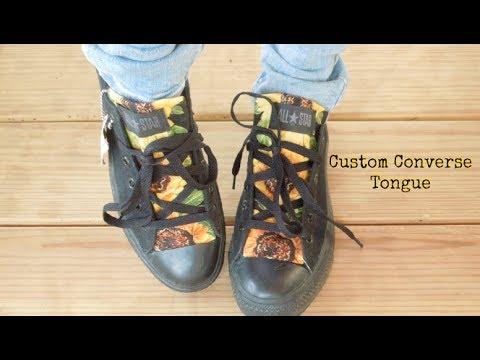 98c0f6d07c6791 How To  Custom Converse Shoe Tongue!