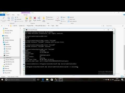 Create a localDB in SQL Server