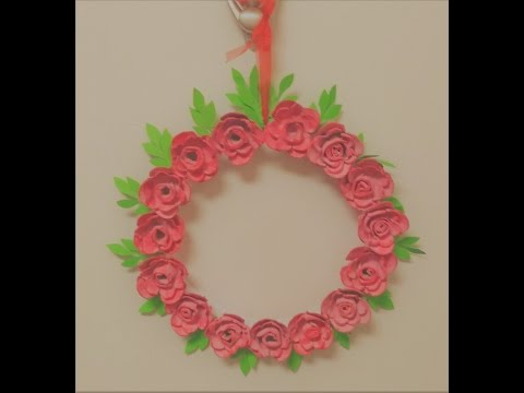 Beautiful wreath making using egg carton