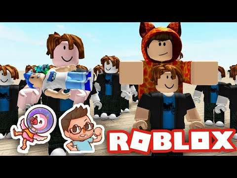 THE BIGGEST FAMILY EVER IN ROBLOX W AlbertsStuff And Jayingee