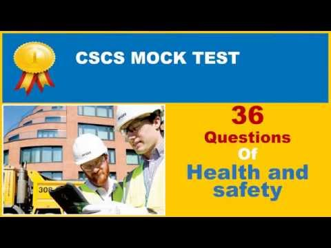 CSCS Test - Health and Safety  - 36 popular questions