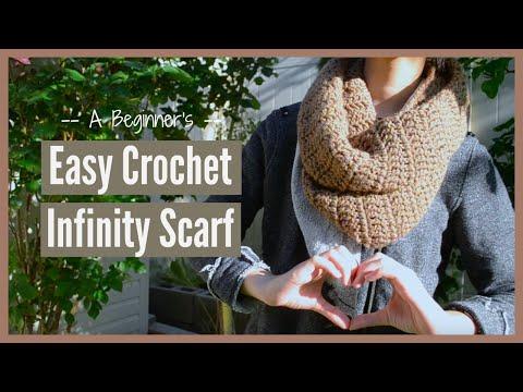 A Beginner's EASY Crochet Infinity Scarf | Ms. Craft Nerd