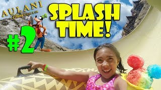 WATERSLIDES, SURFING & HAWAIIAN SHAVED ICE!!! Fun at the Disney Aulani Resort!